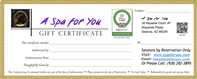 A Spa for You is proud to have been one of the 1st Sedona Spas ever to have been awarded TripAdvisor's Certificate of Excellence for its consistent 5 Star Client Service Reviews in 2011 - Click for A Spa for You TripAdvisor Reviews.